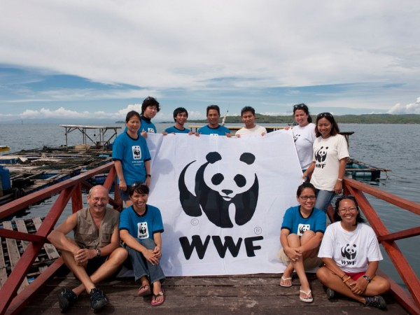 WWF expedition team with WWF Malaysia staff and volunteers. Kudat, Sabah, Malaysia. 27 June 2009